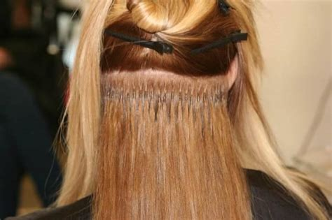 extension dei capelli extension con cheratina extension