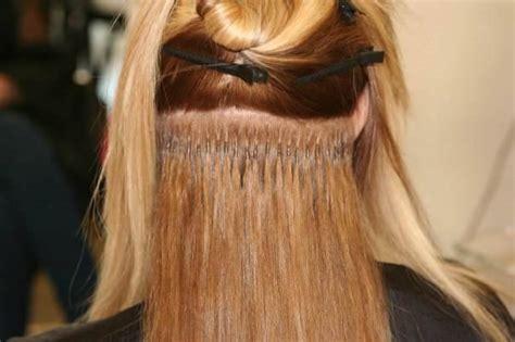 extension in hair extension dei capelli extension con cheratina extension