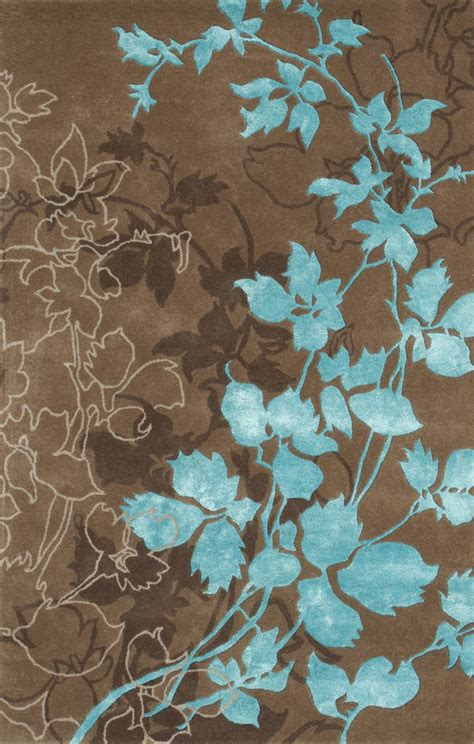 Brown And Aqua Area Rugs by Dahlia Brown Turquoise Area Rug Wool Colors And