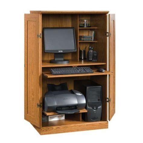 Computer Desk Armoire Oak Finish By Tdm 159 98 Comes Oak Computer Armoire