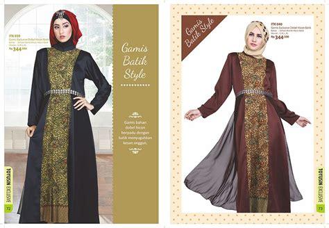 Baju Muslim Branded Baju Gamis Batik Style Toyusin
