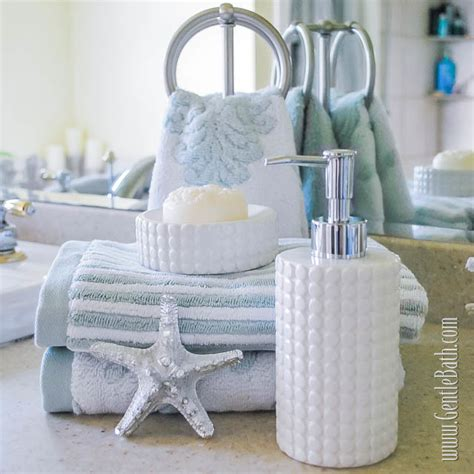 beach inspired bathroom accessories coastal style bed linens home decoration club
