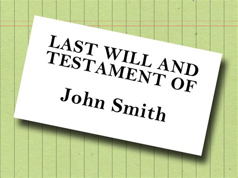 Last Will And Testament Writing how to write your own last will and testament with sle