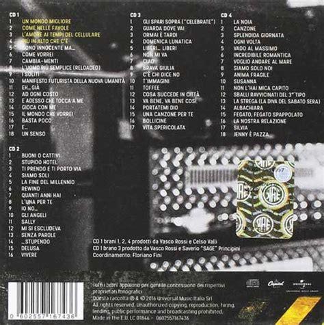 vasco ultime canzoni vasco vasco non stop tracklist album 2016 cd