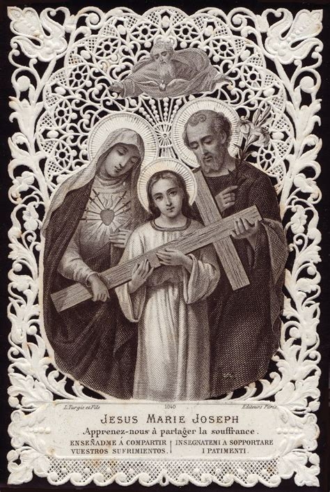 holy family cards the holy family antique prayer card holy cards