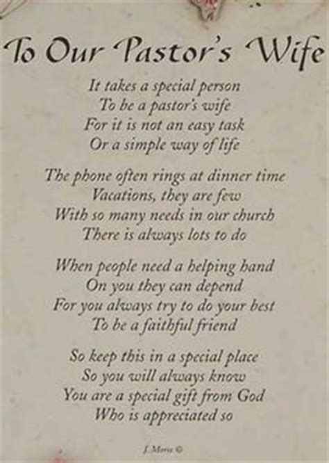 Pastor's Wife / This poem could also work for (although