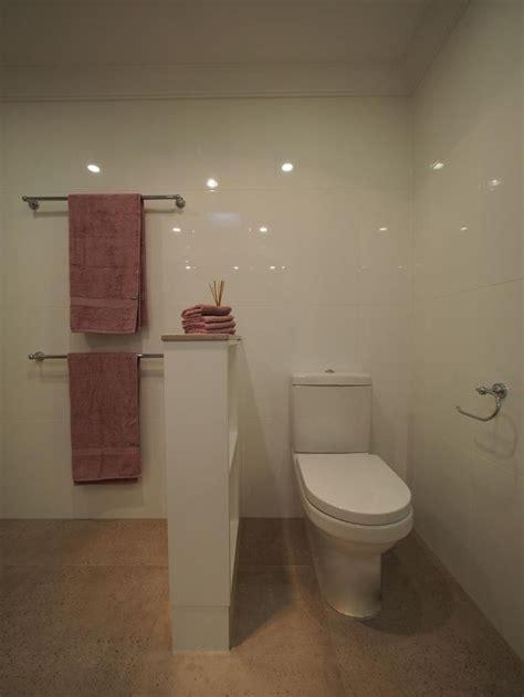 bathroom shelves behind toilet toilet suite concealed behind nib wall and shelves