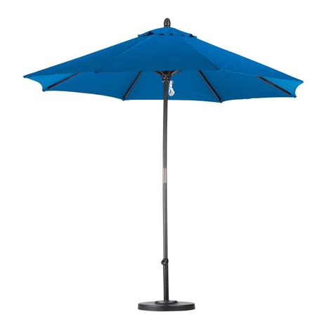 9 Ft Patio Umbrella Shop California Umbrella Pacific Blue Market Patio Umbrella Common 9 Ft W X 9 Ft L Actual 9