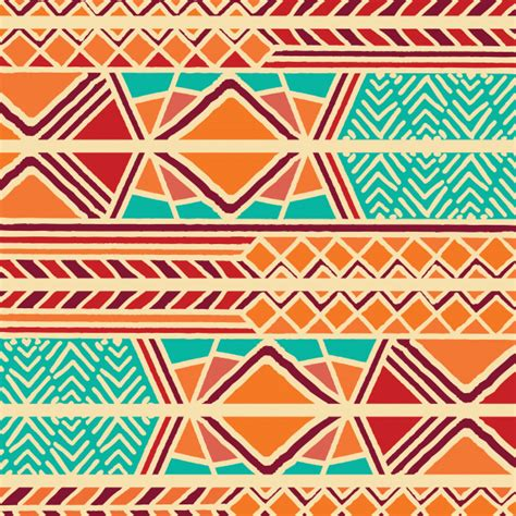 african pattern ai tribal ethnic colorful bohemian pattern with geometric