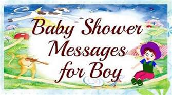baby shower messages for boy