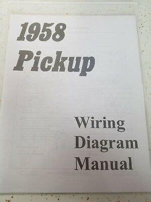 chevy truck wiring diagram manual  shipping ebay