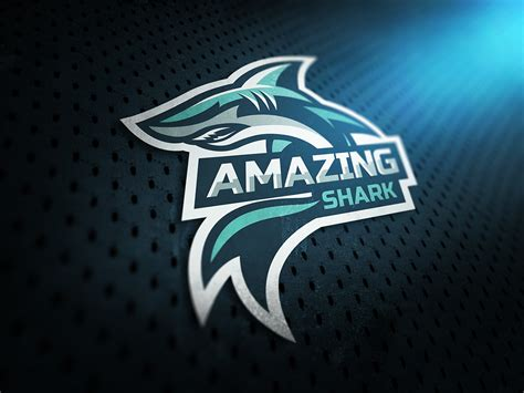 esport logo amazing shark  behance