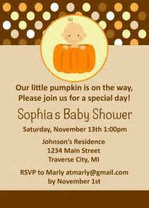 pumpkin baby shower invitations fall baby shower for boy