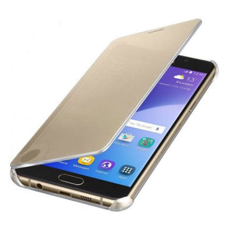 official samsung galaxy a5 2016 clear view cover case gold