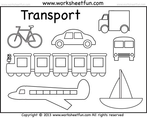 Coloring Pages Transportation free coloring pages of means of land transport
