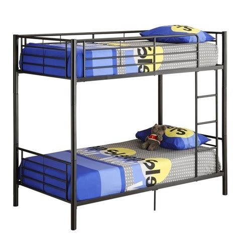 Walker Edison Bunk Bed Walker Edison Sunset Metal Bunk Bed In Black Finish Btotbl