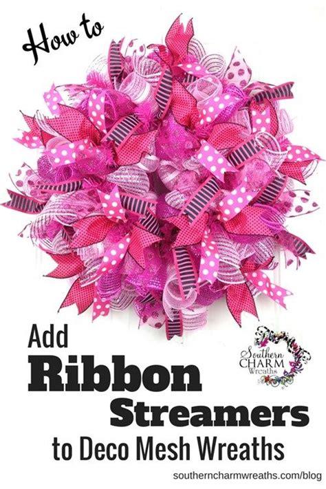 how to add wide mesh ribbon garland to a christmas tree 17 b 228 sta bilder om wreaths p 229 deco meshkransar jutev 228 v och deco mesh