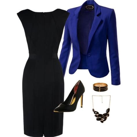 Black Dress Dress Black Dress Blue Dress Blazer 20 marvelous polyvore for your office attire pretty designs