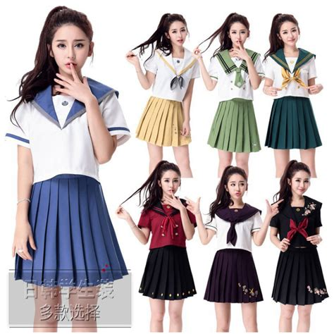 school multiethnic girls different uniform high quality japanese school uniforms 2017 newest sexy