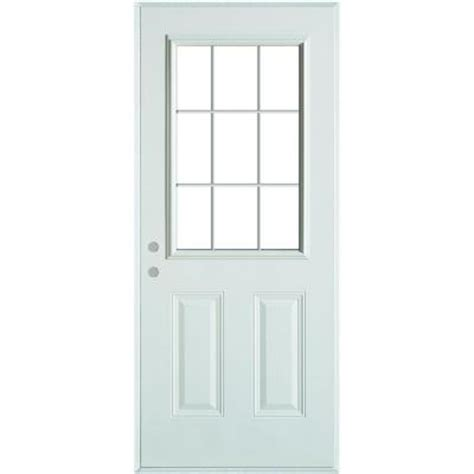9 Lite Door by Stanley Doors Colonial 9 Lite 2 Panel Prefinished White