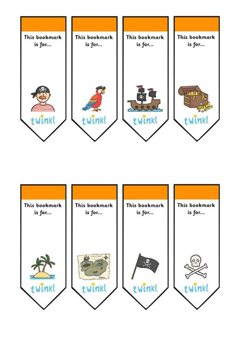 printable pirate bookmarks twinkl resources gt gt editable pirate bookmarks gt gt thousands