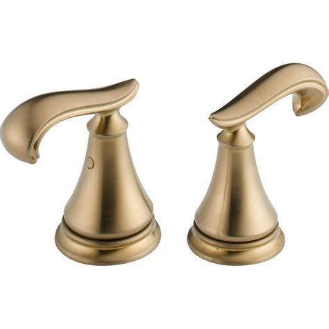 delta chagne bronze hardware delta pair of cassidy french curve lever handles for