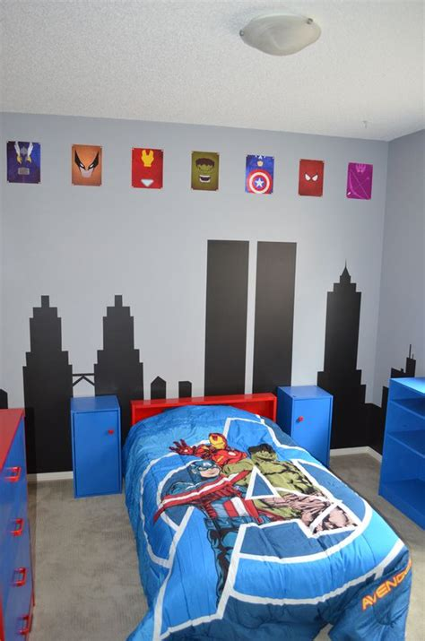 superhero bedroom paint ideas avengers room cityscapes and superhero on pinterest