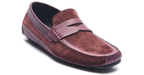 Promo Sale Slip On Gucci Marun 0 1 bruno magli suede leather mix driving shoes in purple for