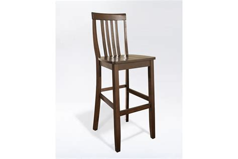 30 seat height bar stools school house bar stool in mahogany finish with 30 inch