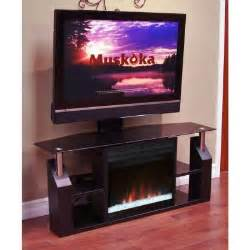 tv stand with fireplace home depot muskoka domus 53 in media console electric fireplace in