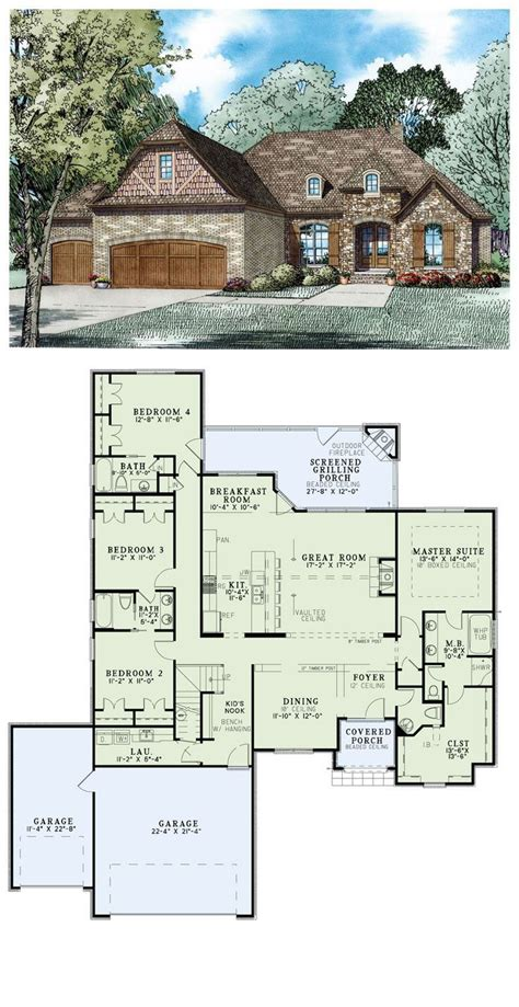 french dream 8149 4 bedrooms and 3 baths the house 25 best j swing house plans images on pinterest