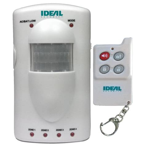 ideal security portable 4 zone motion sensor alarm sk617
