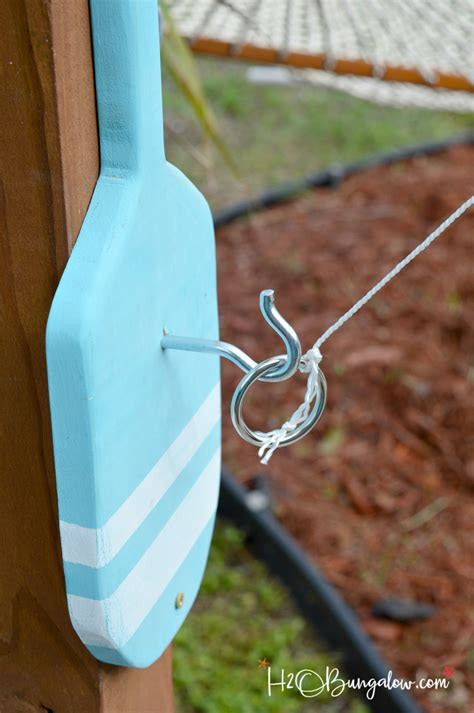 freestanding diy hook  ring game tutorial hobungalow