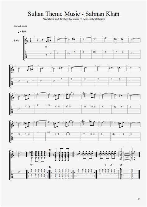 tutorial of guitar chords guitar chord tab lyric and tutorial sultan theme music