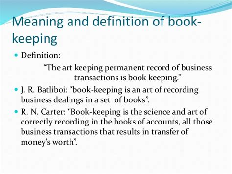definition of a picture book topic 1 introduction of book keeping and accountancy