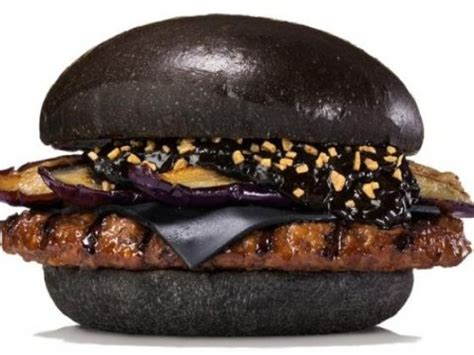 jual roti burger hitam  warna warni
