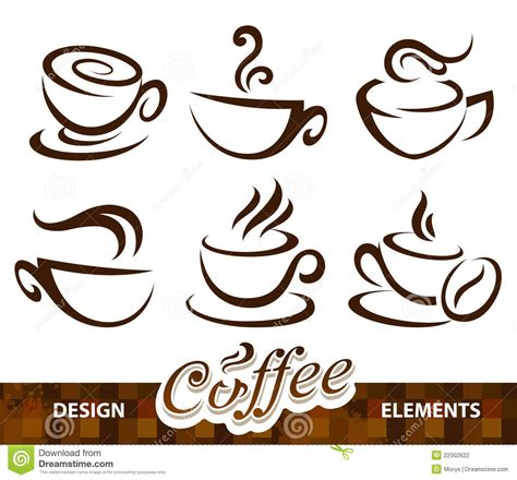 design elements of a coffee shop vector set of coffee design elements stock photography