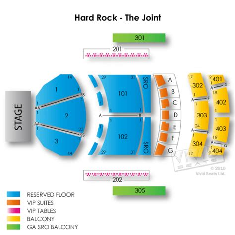 rock house seating chart rock hotel and casino las vegas the joint tickets