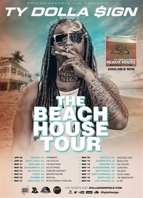 Ty Dolla Sign Announces Quot Beach House Quot Tour Dates Rap Dose Ty Dolla Sign House 2