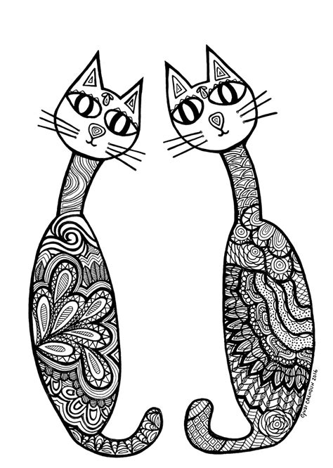 cat coloring pages for adults adult coloring cat coloring pages