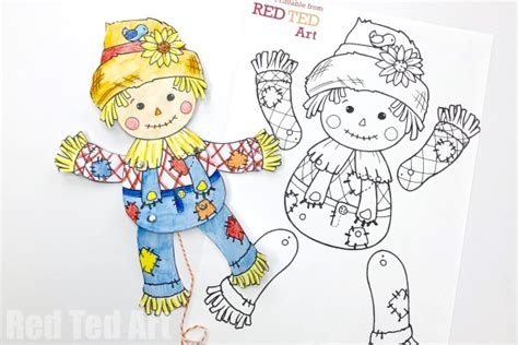 Paper Bag Scarecrow Template