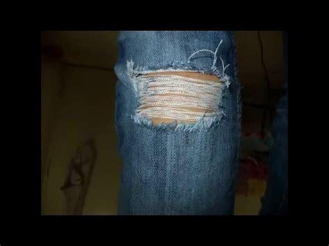Celana Panjang Pria Celana Denim Levis Cowok Catenzo Be 017 tutorial membuat celana robek ripped
