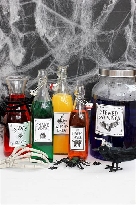 printable halloween potions drink labels julep
