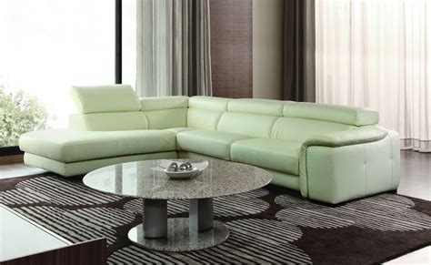 a chic collection of modern leather sectional sofas