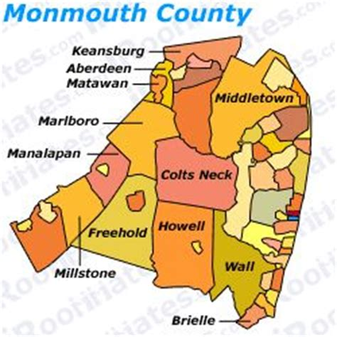 map of monmouth county new jersey roommates and rooms for rent in monmouth county new jersey