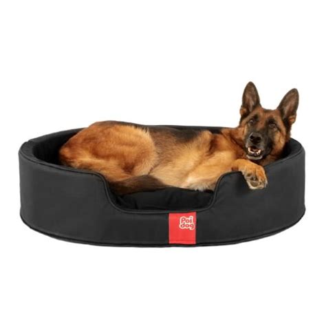 black dog bed poi dog 174 luxury oval dog bed large nest black dog beds
