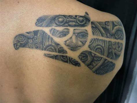 23 best skull aztec tattoo designs images on pinterest