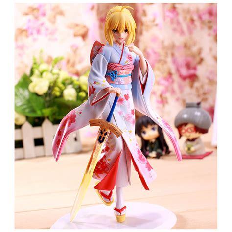 Matou Kimono Ver Pvc Anime zxz anime fate stay 25cm kimono saber anime pvc figure toys collection