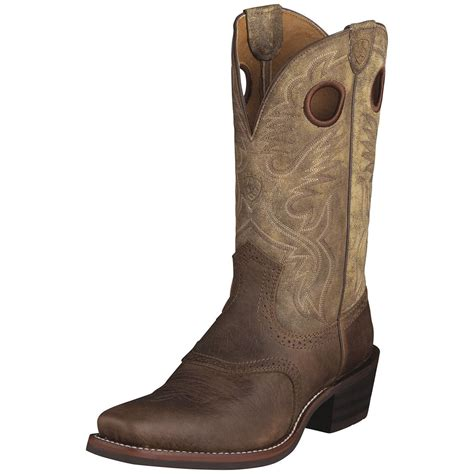 cowboy boots mens s ariat 174 12 quot heritage roughstock cowboy boots brown