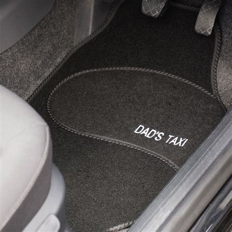 Personalised Car Mats personalised car mats set of 4 gettingpersonal co uk